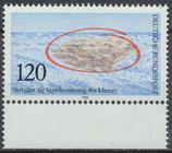 BRD 1144 postfrisch mit Bogenrand unten