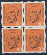 BRD 567 postfrisch Viererblock