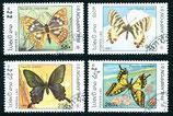1281-1284 gestempelt (LA-Schmetterlinge)