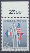 BERL 842 postfrisch Bogenrand oben (RWZ 27,00)