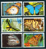 1191-1196 gestempelt (ST-Schmetterlinge)