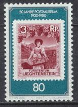 750 postfrisch (LIE)