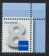 BRD 3188 postfrisch mit Eckrand rechts oben
