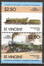 818-819 postfrisch (St. Vincent Eisenbahn)