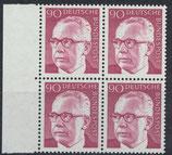 BRD 643 postfrisch Viererblock mit Bogenrand links