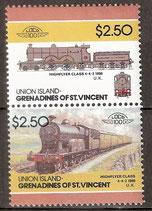 152-153 postfrisch (St. Vincent / Grenadinen Union Island Eisenbahn)
