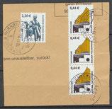 BRD 2307+3x2298 gestempelt auf Briefstück [1]