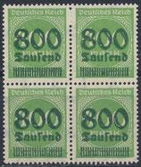 DR 306 A postfrisch Viererblock