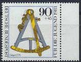 BRD 1093 postfrisch mit Bogenrand rechts