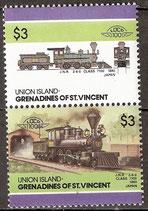154-155 postfrisch (St. Vincent / Grenadinen Union Island Eisenbahn)