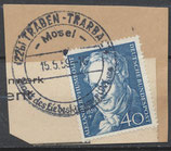 BRD 309 gestempelt auf Briefstück