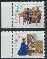 BRD 1011-1012 postfrisch mit Bogenrand links
