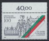 BRD 1676 postfrisch mit Bogenrand oben