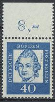 207 postfrisch Bogenrand oben (RWZ 8,00) (BERL)