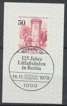 BERL 612  gestempelt mit Ersttagssonderstempel