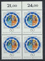BRD 1155 postfrisch Viererblock mit Bogenrand oben