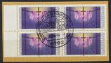 BRD 1201 gestempelt Viererblock auf Briefstück