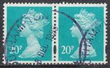 GB 1164 Cs  gestempelt waagrechtes Paar