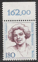 844 postfrisch mit Bogenrand oben (RWZ 162,00)  (BERL)