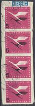 BRD  205 gestempelt waagrechter 4er-Streifen auf Briefstück