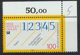 BRD 1659 postfrisch mit Eckrand rechts oben