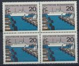 BRD 418 postfrisch Viererblock