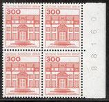 BERL 677 A postfrisch Viererblock mit   Bogenzählnummer