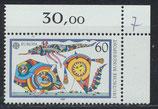 BRD 1417 postfrisch mit Eckrand  rechts oben