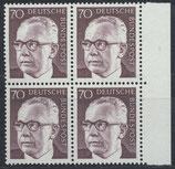 BRD 641 postfrisch Viererblock mit Bogenrand rechts