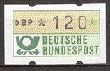 120 (Pf) Automatenmarke 1 postfrisch (BRD-ATM)