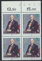 BRD 1184 postfrisch Viererblock mit Bogenrand oben