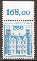 676 A postfrisch mit Bogenrand oben (RWZ 168,00) (BERL)