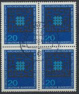 BRD 480 gestempelt Viererblock (2)