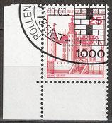 BERL 587 gestempelt Eckrand links unten