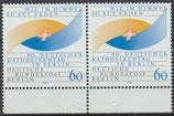 873 postfrisch waagrechtes Paar Bogenrand unten (BERL)