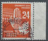 DDR 279 gestempelt mit Bogenrand rechts