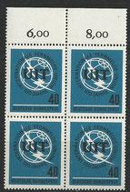 BRD 476 postfrisch Viererblock mit Bogenrand oben