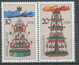 3134/3135 postfrisch Zusammendruck (DDR)