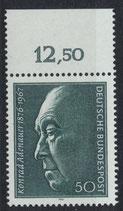 BRD 876 postfrisch mit Bogenrand oben