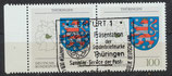 BRD 1716 gestempelt waagrechtes Paar Bogenrand links