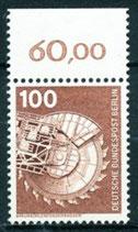 BERL 502  postfrisch mit Bogenrand oben (RWZ 60,00)