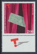 BRD 1857 postfrisch mit Bogenrand unten