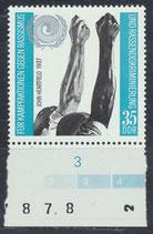 DDR 1702 postfrisch mit Bogenrand unten