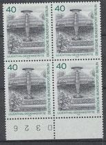 BERL 634-636 postfrisch Viererblocksatz mit Bogenrand unten