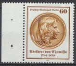 638 postfrisch Bogenrand links (BERL)