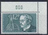 SAAR 432 postfrisch mit Eckrand rechts oben