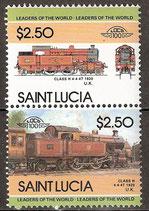 682-683 postfrisch (St. Lucia Eisenbahn)