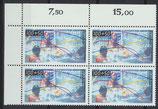 864-865 Vierblocksatz Eckrand links oben (RWZ) (BERL)