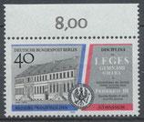 BERL 856 postfrisch mit Bogenrand oben (RWZ 8,00)