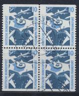 BRD 1347 C/D gestempelt Viererblock
